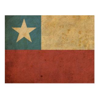 Carte Postale Drapeau vintage du Chili