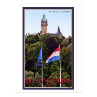 Carte Postale Drapeaux du luxembourgeois