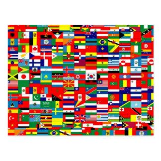 cartes postales drapeaux du monde personnalis es. Black Bedroom Furniture Sets. Home Design Ideas