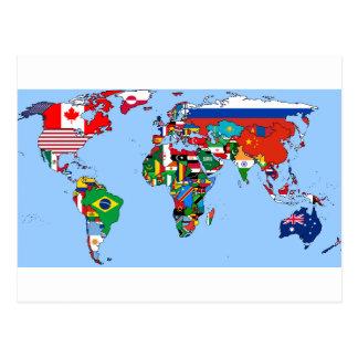 Carte Postale Drapeaux du monde 2014