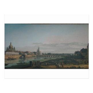 Carte Postale Dresde vue de la rive droite de l'Elbe