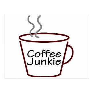 Carte Postale Drogué de café