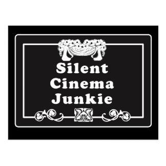Carte Postale Drogué de cinéma silencieux