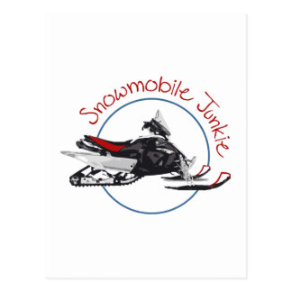 Carte Postale Drogué de Snowmobile