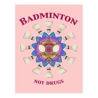 Carte Postale Drogues de badminton pas
