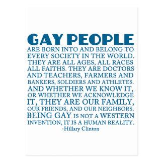 Carte Postale Droits des homosexuels