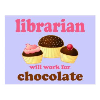 Carte postale drôle de bibliothécaire