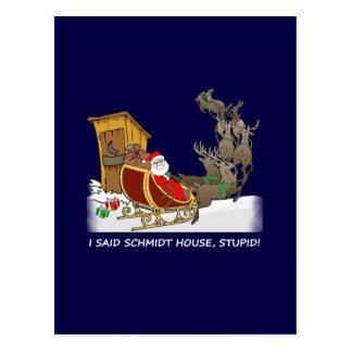 Carte postale drôle de Noël de Chambre de Schmidt