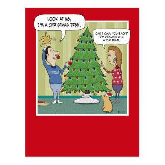 Carte postale drôle de Noël : Faible ampoule