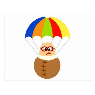 Carte postale drôle de parachute