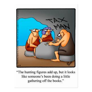 Carte postale drôle d'humour d'impôts