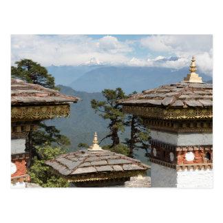 Carte Postale Druk Wangyal Chortens