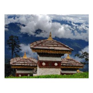 Carte postale du Bhutan