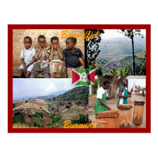 Carte postale du Burundi