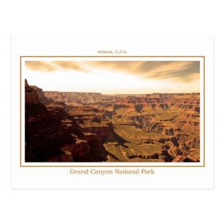 Carte postale du canyon grand - sépia