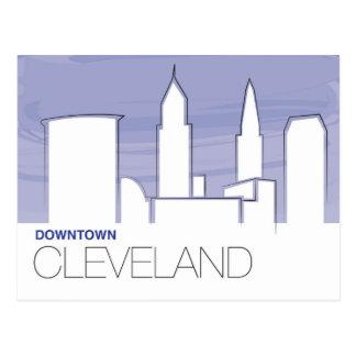 Carte postale du centre de Cleveland