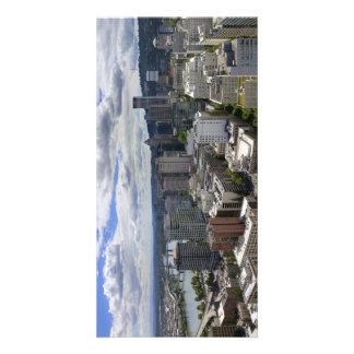 Carte postale du centre de vue aérienne de Portlan Cartes De Vœux Avec Photo