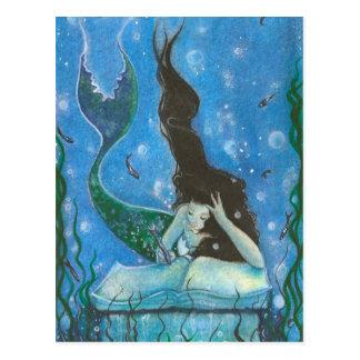 Carte postale du conte d'une sirène