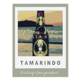 Carte postale du Costa Rica de plage de Tamarindo