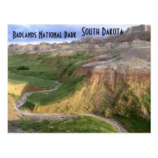 Carte postale du Dakota du Sud de parc national de