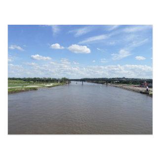 Carte postale du fleuve Missouri