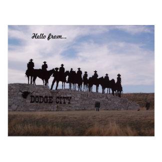 carte postale du Kansas de ville d'esquive