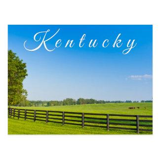 Carte postale du Kentucky. Paysage de campagne