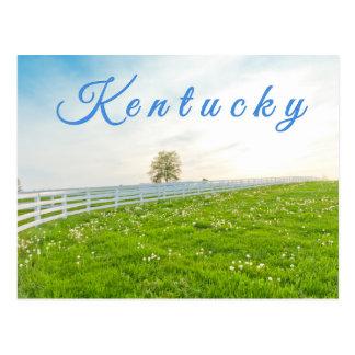 Carte postale du Kentucky. Paysage de campagne au