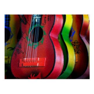 Carte postale du Mexique de guitares de jouet