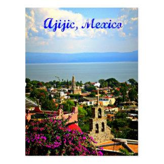 Carte postale du Mexique de village d'Ajijic