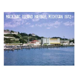 Carte postale du Michigan de port d'île de