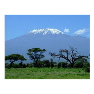 Carte postale du mont Kilimandjaro