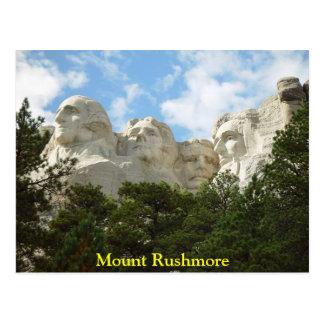 Carte postale du mont Rushmore