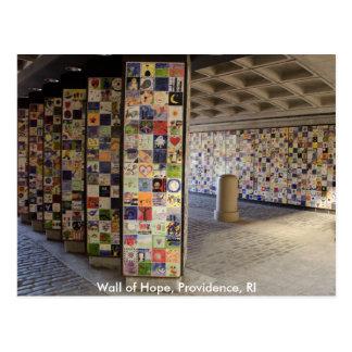 Carte postale du mur de l'espoir en Providence, RI