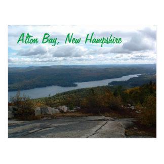 Carte postale du New Hampshire de baie d'Alton