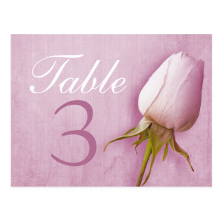 Carte postale du numéro 1-9 de table de mariage de