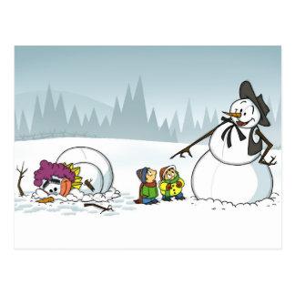 Carte postale du pays des merveilles d'hiver