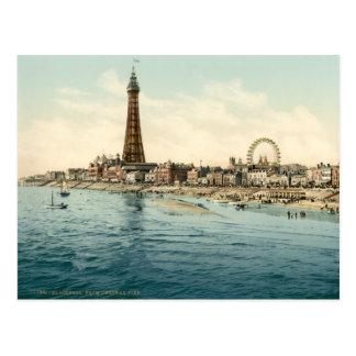 Carte Postale Du pilier central, Blackpool, Angleterre