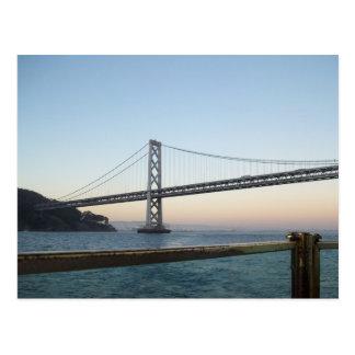 Carte postale du pont SF la Californie de baie
