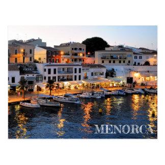 carte postale du port de Ciutadella en Menorca
