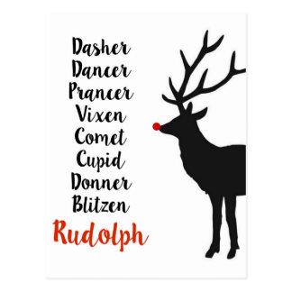Carte postale du renne | de Père Noël