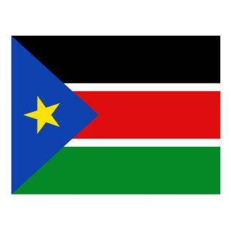 Carte postale du sud de drapeau du Soudan