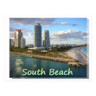 Carte postale du sud de la Floride de plage