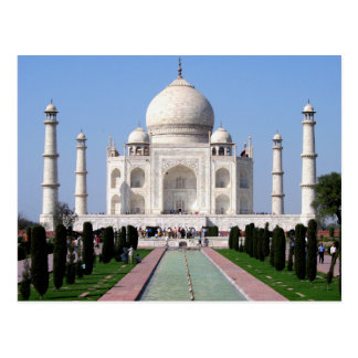 Carte postale du Taj Mahal