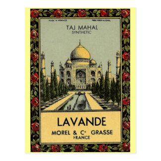 Carte postale du Taj Mahal Lavande