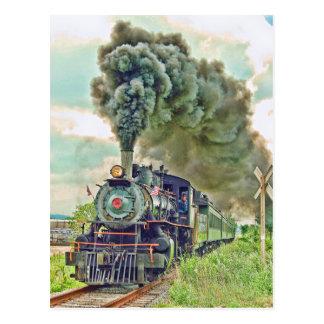 Carte postale du train de voyageurs de vapeur