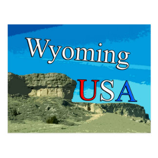 Carte postale du Wyoming Etats-Unis