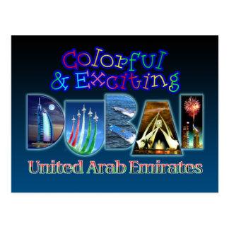 Carte Postale Dubaï coloré et passionnant