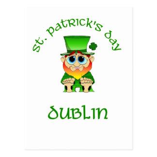 Carte Postale ~ Dublin de Jour de la Saint Patrick