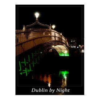 Carte Postale Dublin par nuit
